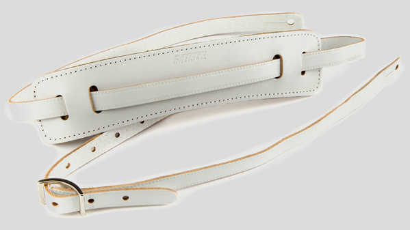 Gretsch Vintage Deluxe Leather Strap White 9220664005 Made in Canada