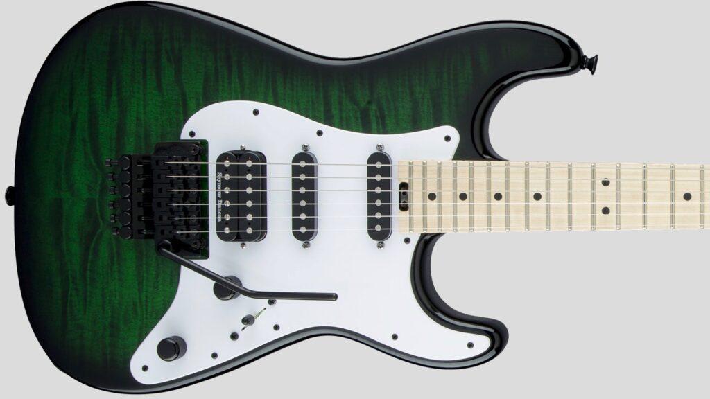 Jackson USA Adrian Smith San Dimas SDQM Maple Fingerboard Transparent Green Burst 2804052887 Made in Usa