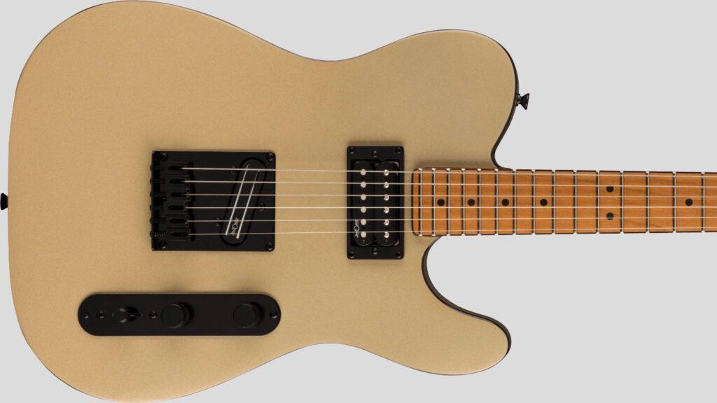 Squier by Fender Telecaster RH Contemporary Shoreline Gold 0371225544 con custodia Fender in omaggio