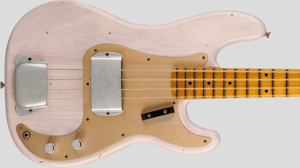 Fender Custom Shop 1959 Precision Bass Time Machine Aged White Blonde Journeyman Relic 9231012901 Made in Usa