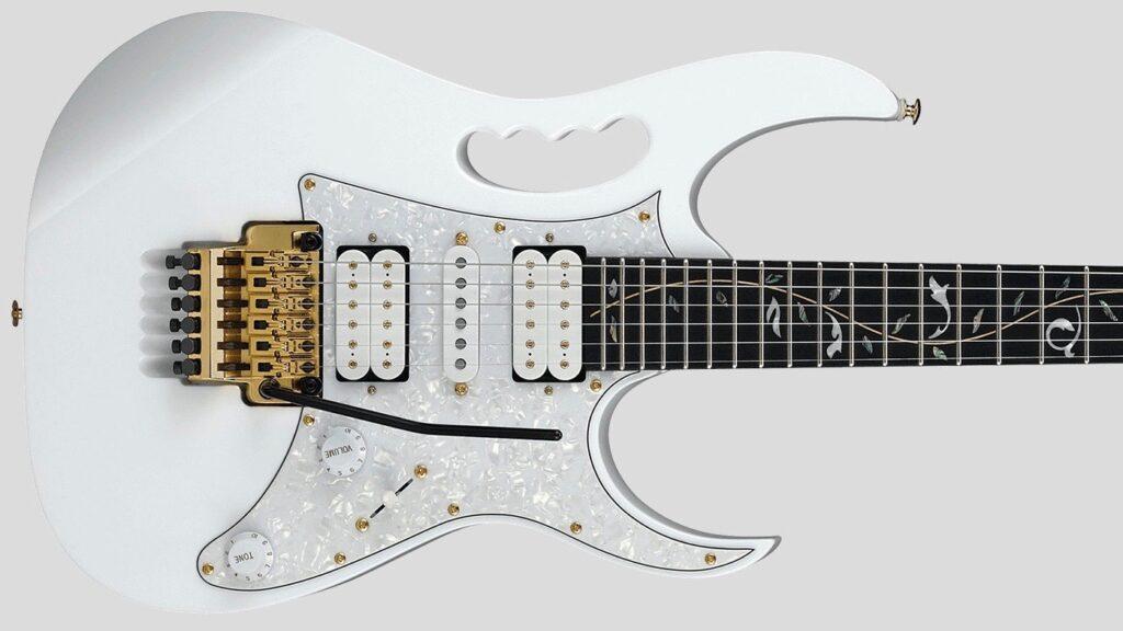 Ibanez Steve Vai JEM7VP White Made in Indonesia inclusa custodia morbida Ibanez Gig Bag