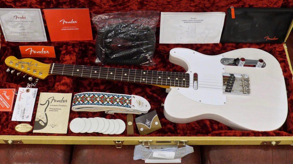Fender Jimmy Page Mirror Telecaster White Blonde 9235001118 Made in Usa inclusa custodia rigida Fender G&G