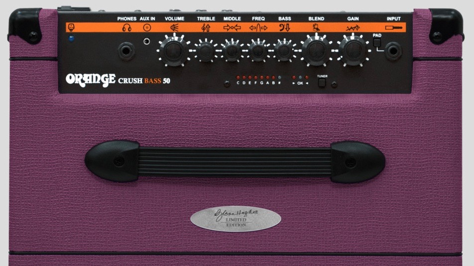 Orange Glenn Hughes Crush Bass 50 Purple 50 watt 1x12 with Chromatic Tuner