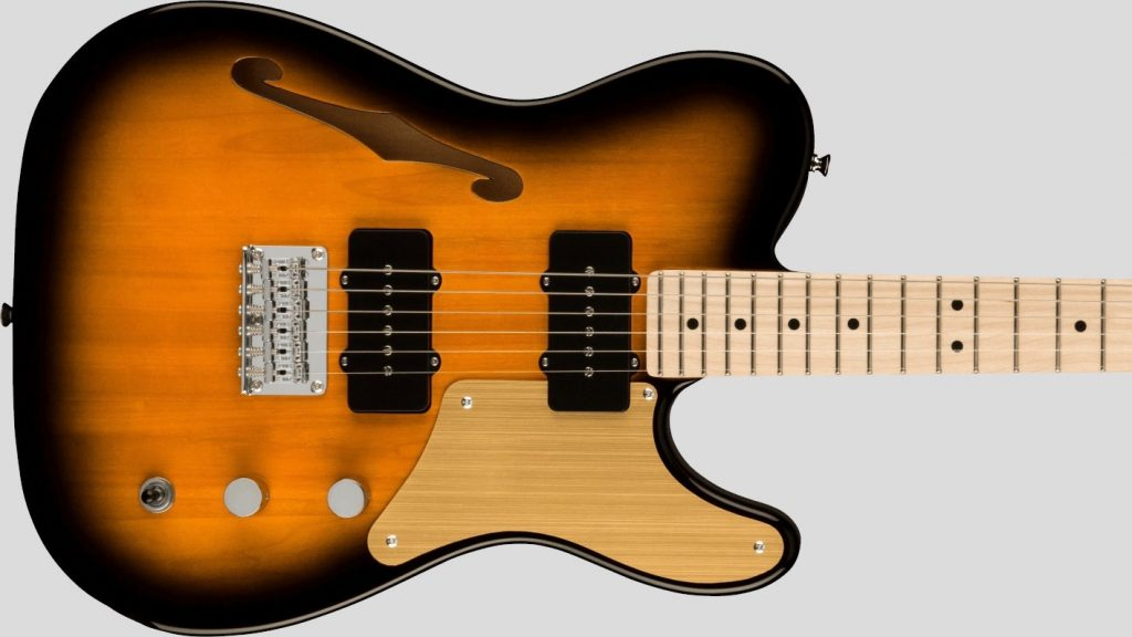 Squier by Fender Cabronita Telecaster Thinline Paranormal 2-Color Sunburst con custodia Fender in omaggio