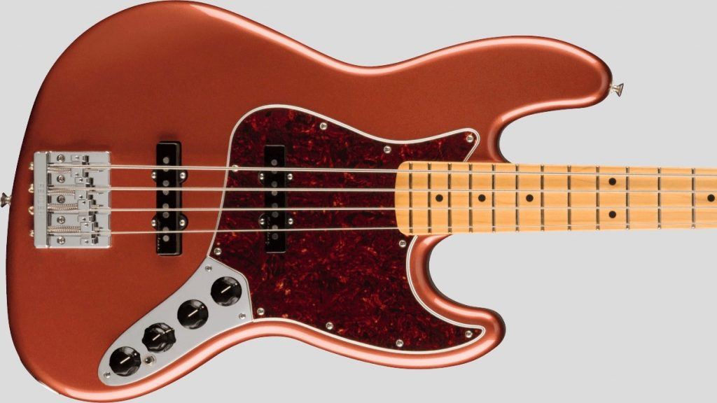 Fender Jazz Bass Player Plus Aged Candy Apple Red 0147372370 Made in Mexico inclusa custodia Fender