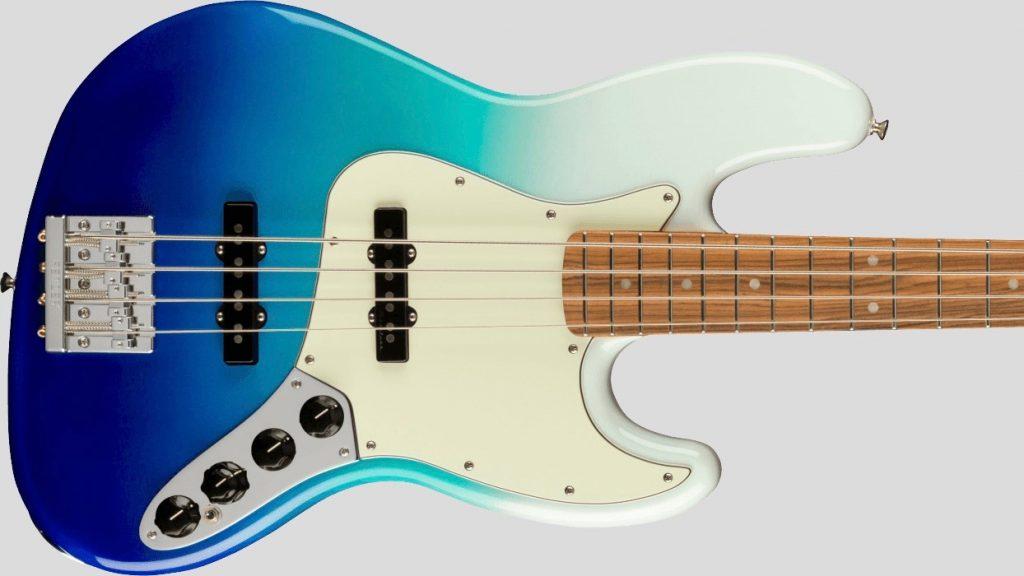 Fender Jazz Bass Player Plus Belair Blue 0147373330 Made in Mexico inclusa custodia Fender