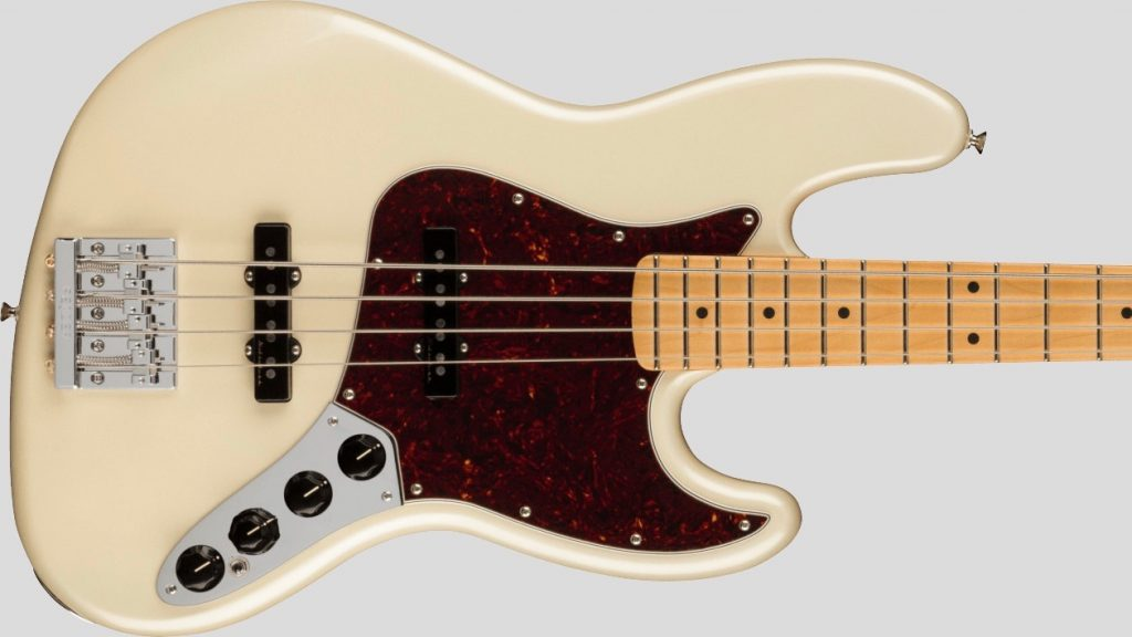 Fender Jazz Bass Player Plus Olympic Pearl 0147372323 Made in Mexico inclusa custodia Fender