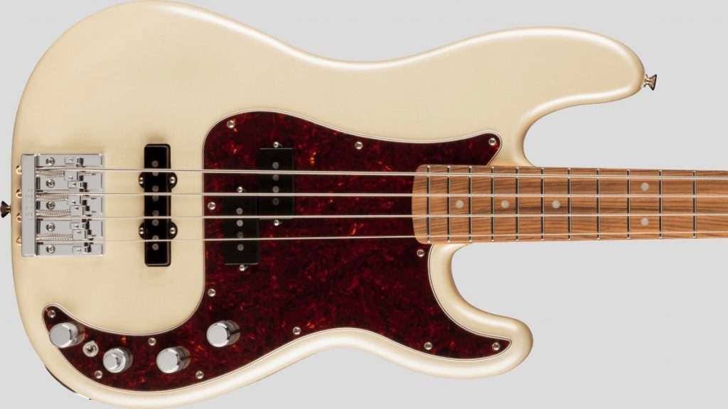 Fender Precision Bass Player Plus Olympic Pearl 0147363323 Made in Mexico inclusa custodia Fender